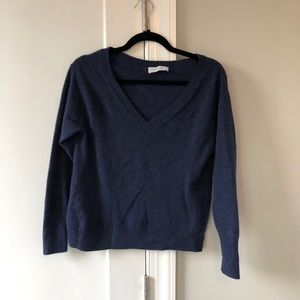 Everlane cashmere v-neck sweater.